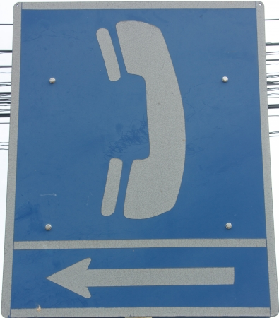 Phone symbol signs. Identify the source of the talks. The design of the technology