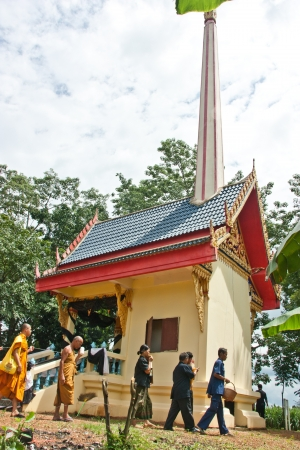 where to go: SA KAEO, THAILAND - SEPTEMBER 8  People are unidentified  Attended the ceremony to the souls of the dead go to heaven where rural countryside on September 8, 2012 in Sa Kaeo, Thailand