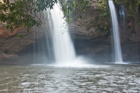 Khao Yai in Thailand  The park is also abundant  There are a lot of promise  Waterfall in cold moist throughout the year as a major tourist attraction in Thailand photo
