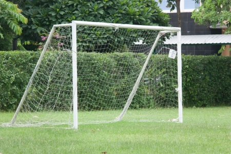 Equipment goal is a standard used worldwide. Football is a popular sport of people. The size of a football, and it must be up to standard.