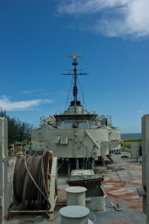 La nave estaba fuertemente armado buques de guerra. Para antia�reos fuego, agua, tierra eficaz.