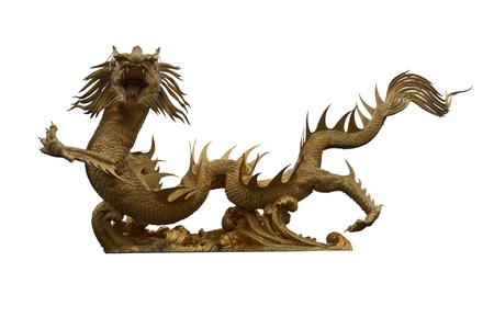 sacrificed: The dragon is a legendary creature of belief that any animal sacrificed. Be a pass for life. An animal of the god of good fortune Stock Photo
