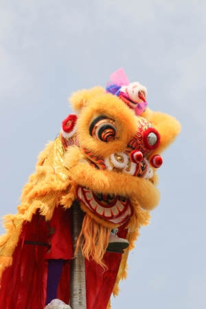 Festival parade lion Is a festival that happens once a year  Is a very important festival for Chinese people all over the world  photo