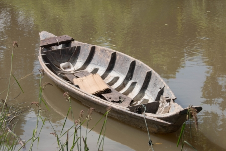 Old wooden boat  photo