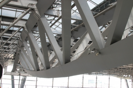 Steel frame construction is strong. Many work as an architect to perform a beautiful and solid strength.
