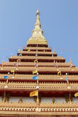 Pagoda is a historic Buddhist holy men. Has a long history. Construction of a prehistoric art. Maintain aesthetics Stock Photo