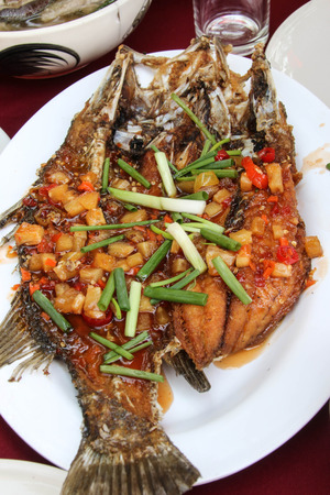 Marine fish is used to make food taste delicious variety is popular with many people. photo
