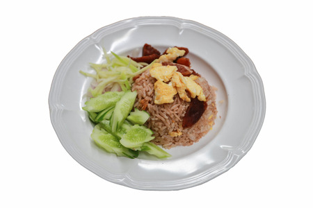 Shrimp Fried Rice Thailand food menu is a la carte, there are ways to do it  I only prepare roasts Mix in the rice paste  Stock Photo