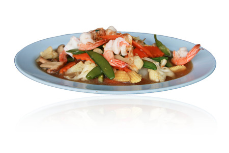 national identity: Thailand is a dish of food. That are acquired and transmitted continuously from the past. As a national identity Stock Photo