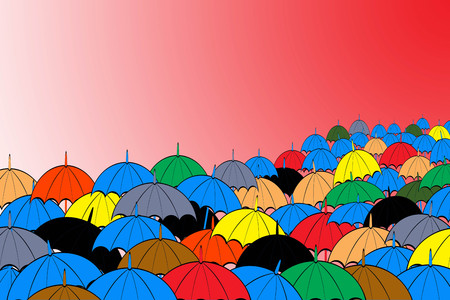 rounded edges: An umbrella for sun and rain. A long handle for carrying And the upper curved plate Like mushrooms, rounded edges Made of paper or cloth An important characteristic of the umbrella. Can fold away