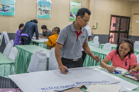 CHONBURI, THAILAND - JUNE 26 : People who do not know the name and symposiums in the office. On June 26, 2016 in Chonburi, Thailand.