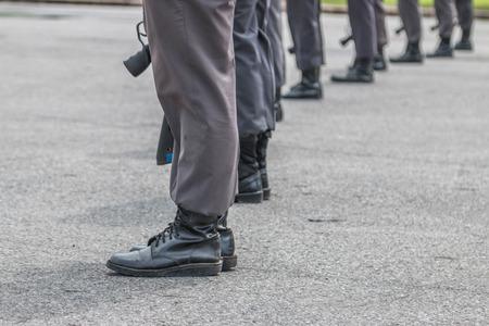 delito: El nombre de las autoridades policiales. Es responsable de patrullar detenci�n mantenimiento de la paz y reprimir el delito. Llam� a la polic�a de guardia como sheriff. Foto de archivo