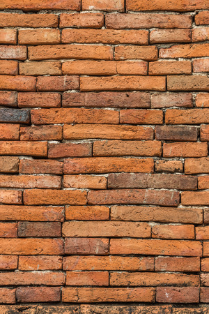 It is the basic building material for the construction of buildings. Conventional bricks made from a mixture of clay, sand, soil and water for other bricks. Stock Photo