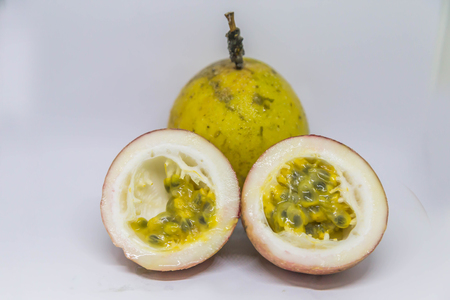 Also known as passion fruit, guava or sundae sundae sundae or a giant black fruit vine. Originated in South America Brazil, Paraguay, Argentina, as a result of rounding. Stock Photo