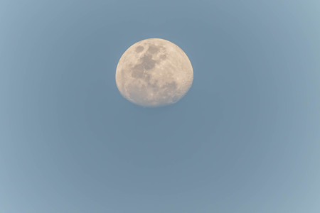 Moon is the only one of the moons. A large moons in the solar system with five consecutive world average distance of about 384,403 kilometers from the center to the center. Stock Photo