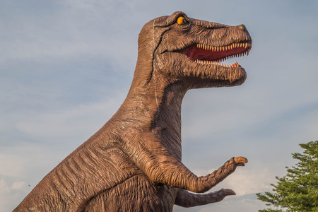 Dinosaurs are the collective name of the prehistoric animals in the Big Dinosauria, which once dominated ecosystems on the Earth. In the Mesozoic Era For as long as 165 million years. Stock Photo