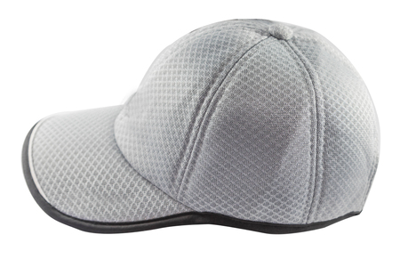 Grey cap isolated on a white background