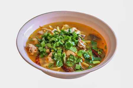 Thailands food meal also called Tom Zab, has spicy taste.