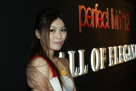 pretty chinese promoter at perfect livin 2012, PWTC 7.4.2012