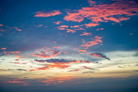 Evening sky before sunset mixed with red blue and gold shade color Stock fotó