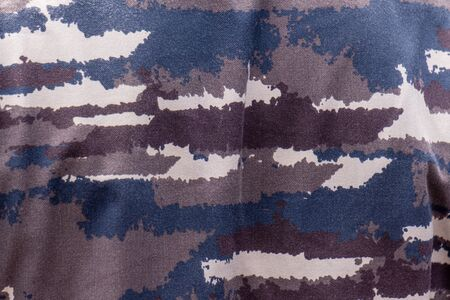 Indonesian navy sailor uniform. Camouflage made by warships outline in blue and gray tone. Фото со стока