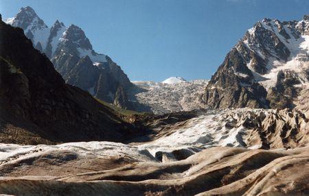 caucasus: Karaygom glasier in Caucasus mountain