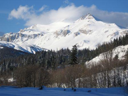 caucasus: Oshten peak in mountain Caucasus