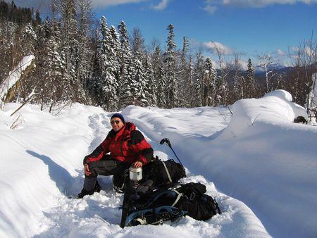 halt: halt in the winters Stock Photo
