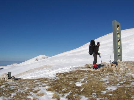 Winters mountaineering in Caucasus Stock Photo - 405933
