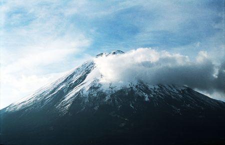 Volcano Kluchevskaja and clouds