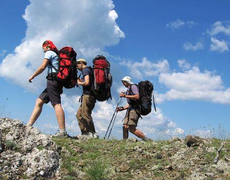 three climbers photo