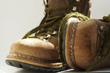 light duty: Brown old boots