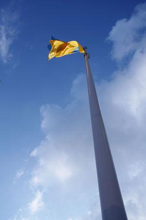 polity: Ukrainian flag on the blue