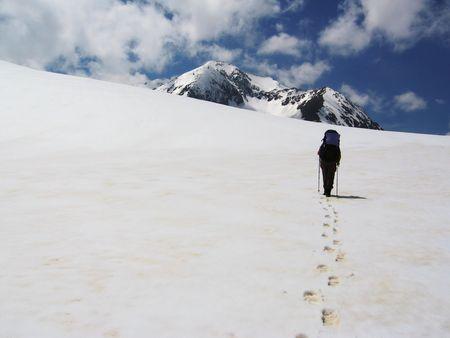 people in the snow trek Stock Photo - 521990