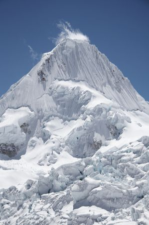 Beautiful Alpamayo peak in the Cordillera Blanca,Peru photo