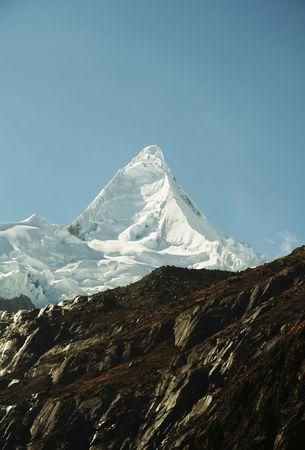Beautiful summit Alpamayo in the Cordilleras mountain photo