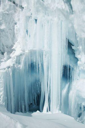 sopel lodu: Blue sopel lodu w lodowiec dla Cordilleras