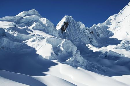 Snow mountain photo