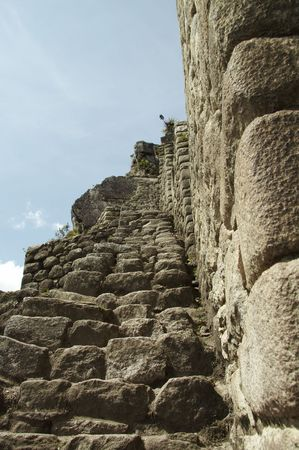 the lost city of the incas: Ruins in the lost incas city Machu-Picchu,Peru