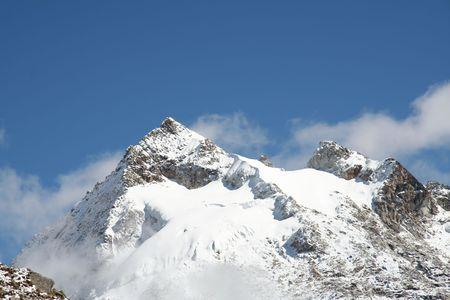 Summit Urus in the Cordilleras mountain Stock Photo