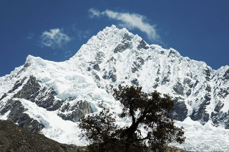 Peak Alpamayo  in Cordilleras photo