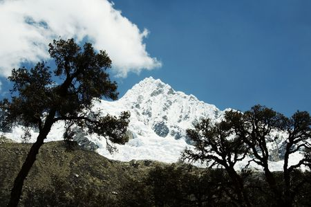Base camp Alpamayo in the Cordillera Stock Photo - 576308