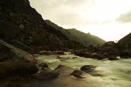 Beautiful creek in the Cordilleras photo
