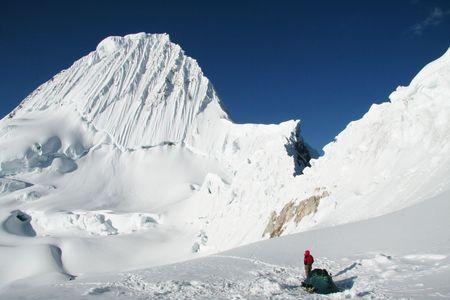 Base camp Alpamayo in the Cordillera photo