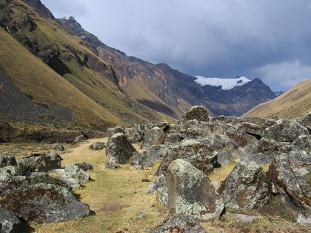 andes mountain: Andes mountain in the Peru Stock Photo