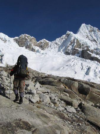 Going mountaineer on the  Alpamayo peak photo