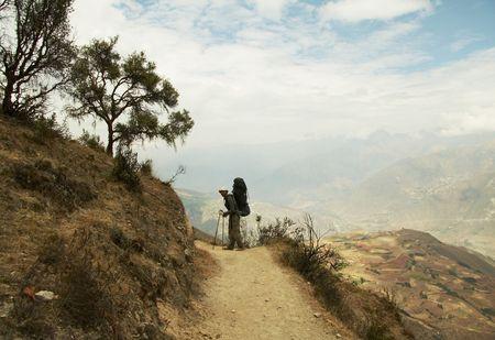 Going mountaineer on the  Santa Crus trek photo