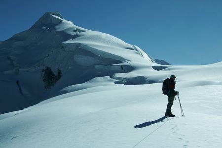 The climb on the Cordillera mountain photo
