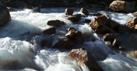 Clean mountain river in the Cordilleras,Peru photo