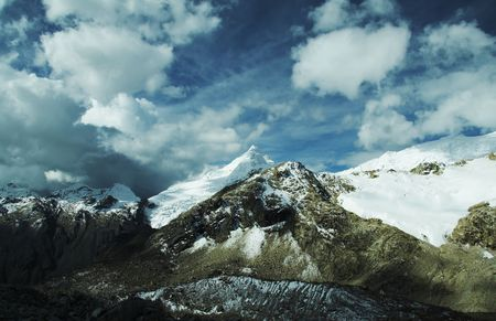 Mountain Cordilleras and storm clouds ,Peru photo
